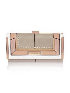 river-island-insert-bar-cliptop-purse-beige