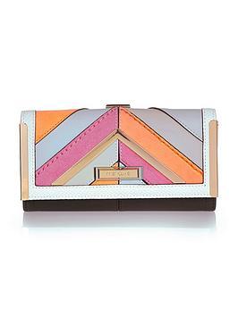 river-island-pink-neon-mix-cutabout-cliptop-purse