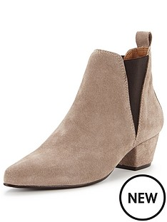 warehouse-warehouse-suede-ankle-boot