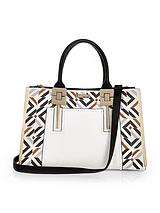 Printed Front Square Tote