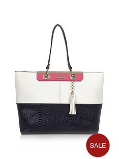 river-island-clean-blocked-shopper-navy