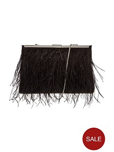 coast-feather-clutch-bag-black