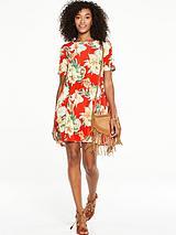Short Sleeve Jersey Swing Dress