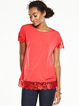 Lace Detail Jersey T-Shirt