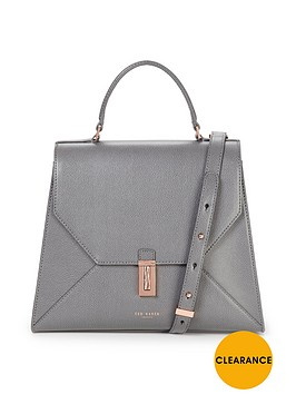 ted-baker-caviar-leather-top-handle-tote-bag-gunmetal