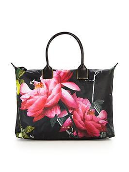 ted-baker-citrus-bloom-large-nylon-weekender-bag