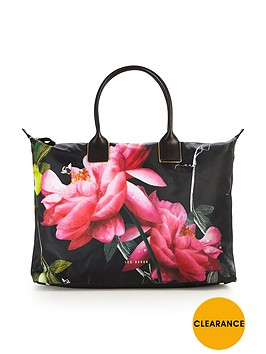 ted-baker-citrus-bloom-large-nylon-weekender-bag