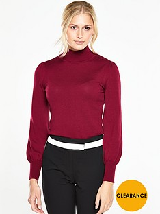 v-by-very-blouson-sleeve-roll-neck-jumpernbsp