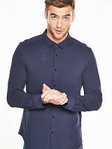 Pique Buttoned Polo Shirt