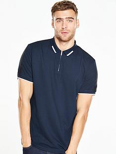 v-by-very-short-sleeve-zip-through-polo-shirt
