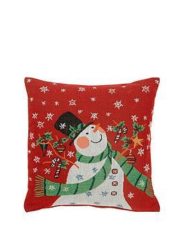 snowman-tapestry-cushion