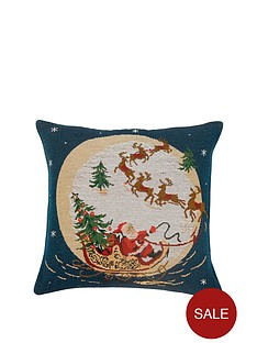 santa039s-sleigh-tapestry-cushion