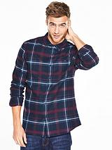 Long Sleeve Scale Brushed Check Shirt