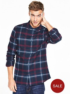 v-by-very-long-sleeve-scale-brushed-check-shirt