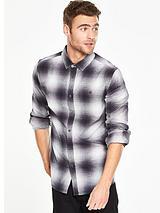 Long Sleeve Shadow Check Shirt