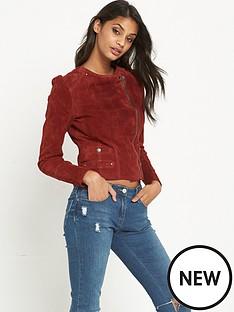 vero-moda-suede-slim-colour-jacket-red