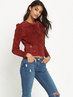 vero-moda-vero-moda-suede-slim-colour-jacket-red