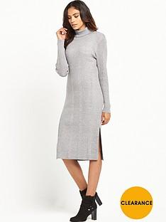 vero-moda-vero-moda-nimbo-ls-roll-neck-split-dress-grey