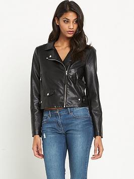 vero-moda-simone-short-pu-jacket-black