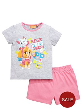 paw-patrol-girls-skye-and-everest-shortynbsppyjamas