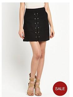 river-island-lace-up-mini-skirt
