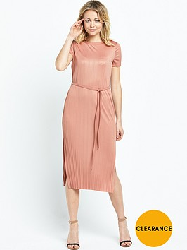 river-island-pleated-dress-nudenbsp