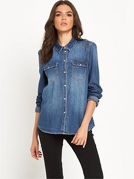 noisy-may-cathy-denim-shirt