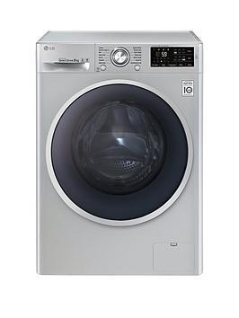 Lg F14U2Tdn5 8Kg Load 1400 Spin Washing Machine  Silver