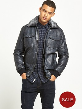 pepe-jeans-pepe-jeans-conduit-shearling-collar-leather-jacket