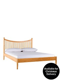 shaker-double-bed-frame-with-optional-mattress-oak