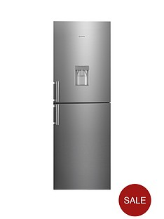 hoover-hvbn6182xwdknbsp60-cm-fridge-freezer-with-water-dispenser-stainless-steel