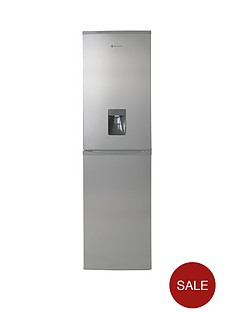 hoover-hff195xwk-frost-free-fridge-freezer-with-water-dispenser-stainless-steel