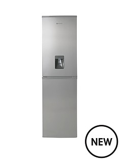 hoover-hff195xwk-wtd-fridge-freezer-stainless-steel