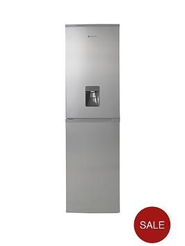 hoover-hff195xwknbsp55cm-frost-free-fridge-freezer-with-water-dispenser-stainless-steel