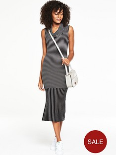 v-by-very-cowl-neck-stripe-midi-dressnbsp