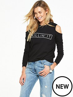 v-by-very-logo-loopbacknbspcold-shoulder-sweat