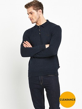superdry-orange-label-long-sleeved-knitted-mens-polo-top-petrol