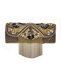 forever-unique-embellished-tassel-clutch-bag-gold