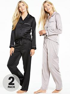 v-by-very-satin-pyjama-set