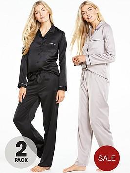 v-by-very-satin-pyjama-set