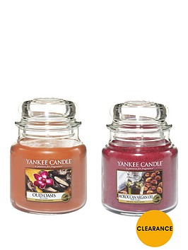yankee-candle-set-of-2-medium-jar-candles-ndash-oud-oasis-and-moroccan-argan-oil