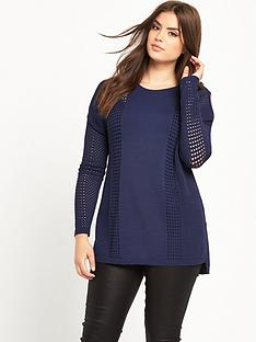 so-fabulous-airtexnbspcold-shoulder-fine-knit-jumper-midnight-blue