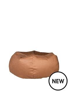 luxury-grace-faux-leather-pumpkin-bean-bag