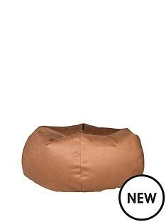 luxury-grace-faux-leather-pumpkin-beanbag