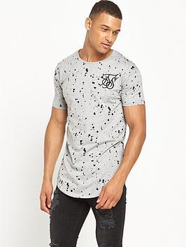 sik-silk-splat-curved-hem-t-shirt-grey-marl