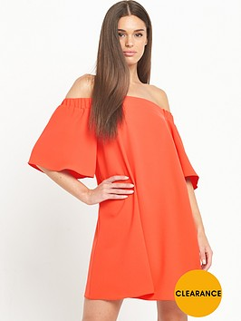 river-island-bardot-swing-dress-red