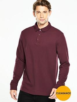 v-by-very-long-sleeve-pique-polo-top