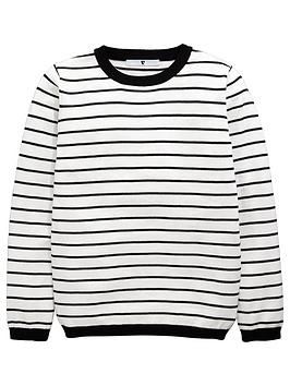 v-by-very-girls-stripe-knitted-jumper
