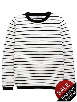 v-by-very-girls-stripe-knitted-jumper