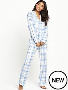 ugg-australia-raven-cosy-plaid-flannel-pyjama-set-pajama-blue